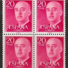 Sellos: EDIFIL 2228, GENERAL FRANCO, SERIE BASICA, NUEVO *** EN BLOQUE DE 4. Lote 55096720