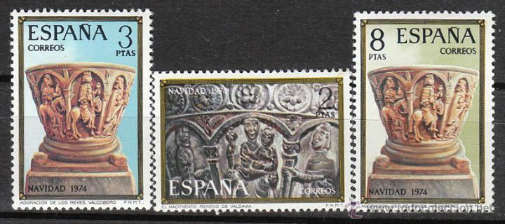 EDIFIL 2217/9, NAVIDAD 1974, RENATO DE VALDABIA Y VALCOBERO (PALENCIA), NUEVO *** (SERIE COMPLETA) (Sellos - España - II Centenario De 1.950 a 1.975 - Nuevos)