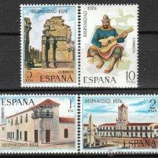 Sellos: EDIFIL 2213/6, HISPANIDAD 1974, ARGENTINA, NUEVO *** (SERIE COMPLETA). Lote 54321729