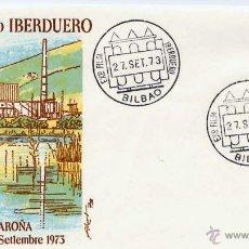 Sellos: SOBRE IV EXPOSICIÓN FILATELICA GRUPO IBERDUERO BILBAO 27 SEPTIEMBRE 1973 . Lote 54495079