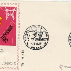 Sellos: SOBRE JUVENIA 75 BILBAO EXPOSICIÓN FILATELICA NACIONAL 3 ENERO 1975. Lote 54495192