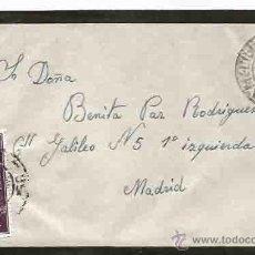 Sellos: SOBRE Y CARTA. MELILLA. MADRID. 13 DICIEMBRE DE 1961.. Lote 54560499