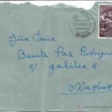 Sellos: SOBRE. POL?ACELI, VALENCIA. 11 DE ENERO DE 1964.. Lote 54560690