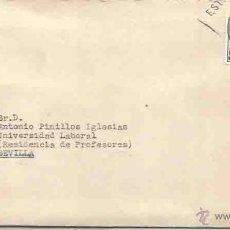 Sellos: SOBRE Y CARTA. MADRID. SEVILLA. NOVIEMBRE DE 1958. Lote 54561377