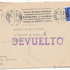 Sellos: CARTA DE SEVILLA A SEVILLA DEL 11 DICIEMBRE 1974. CON EDIFIL 2226 Y AVISO CON EDIFIL 1159.. Lote 54677555