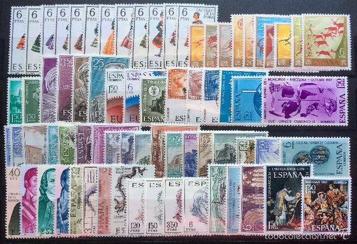 ESPAÑA AÑO 1967** COMPLETO NUEVOS, SIN SEÑAL DE FIJASELLOS (Sellos - España - II Centenario De 1.950 a 1.975 - Nuevos)