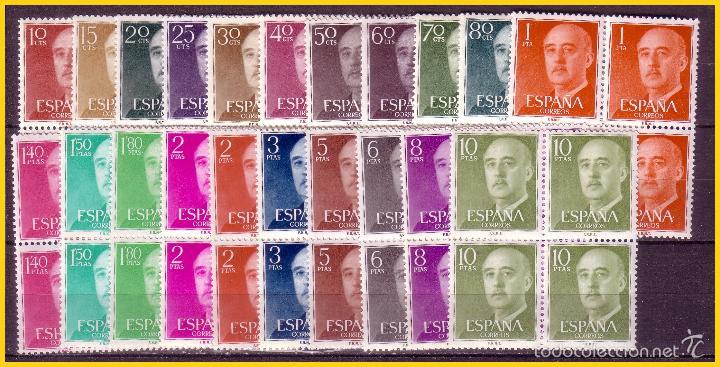1955 GENERAL FRANCO , EDIFIL Nº 1143 A 1163 * * B4, COMPLETA (Sellos - España - II Centenario De 1.950 a 1.975 - Nuevos)