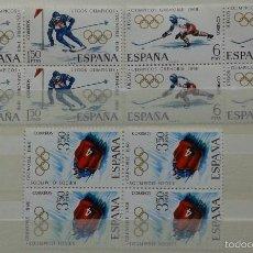 Sellos: 8X4 SELLOS, NUEVOS, ESPAÑA, AÑO 1968. Lote 55308340