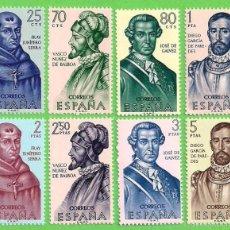 Sellos: EDIFIL 1526-1527-1528-1529-1530-1531-1532-1533. FORJADORES DE AMÉRICA. (1963).** NUEVOS - COMPLETA.. Lote 55333453