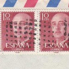 Sellos: SOBRE COMPLETO, EDIFIL 1143(5) Y 1155. ANULACIÓN SUPLENTE MATº ROMBO DE PUNTOS. . Lote 56391571