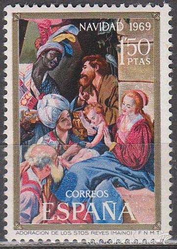 EDIFIL Nº 1944, ADORACIÓN DE LOS REYES DE MAYNO, NAVIDAD 1969, NUEVO *** (Sellos - España - II Centenario De 1.950 a 1.975 - Nuevos)