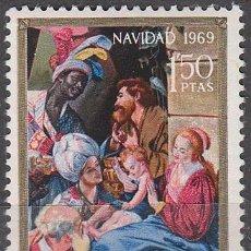 Sellos: EDIFIL Nº 1944, ADORACIÓN DE LOS REYES DE MAYNO, NAVIDAD 1969, NUEVO ***. Lote 195377025