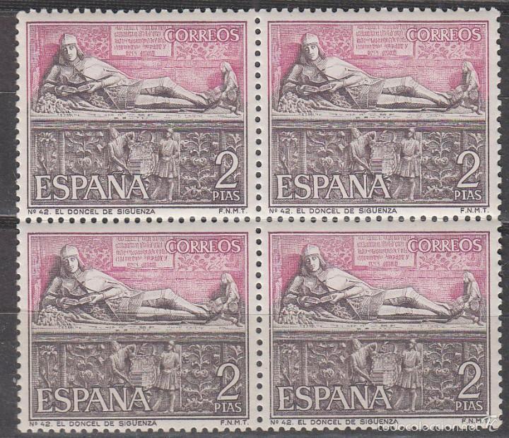 EDIFIL Nº 1878, TURISTICA 1968 EL DONCEL DE LA CATEDRAL DE SIGUENZA (GUADALAJARA) NUEVO *** BLOQUE 4 (Sellos - España - II Centenario De 1.950 a 1.975 - Nuevos)