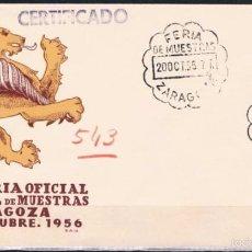 Sellos: 1956.- ZARAGOZA. Lote 57154352