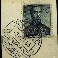 ESPAÑA 1952- EDI 1118 (S. Francisco Javier) matasellos Especial (Fragmento)