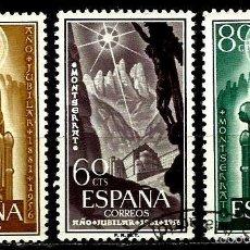 Sellos: ESPAÑA 1956- EDI 1192/1194 (SERIE: MONTSERRAT) USADOS. Lote 194227177