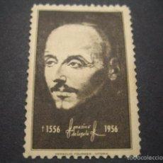 Sellos: SELLO SAN IGNACIO DE LOYOLA 1556 - 1956. HERACLIO FOURNIER VITORIA. Lote 57807360