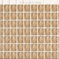 Sellos: ESPAÑA PLIEGO COMPLETO 100 SELLOS GENERAL FRANCO EDIFIL NUM. 1144 ** NUEVO. Lote 111766564