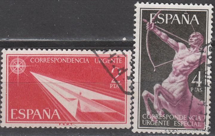 EDIFIL 1185/6, SELLOS PARA CORREO URGENTE, USADOS EN SERIE COMPLETA (Sellos - España - II Centenario De 1.950 a 1.975 - Usados)