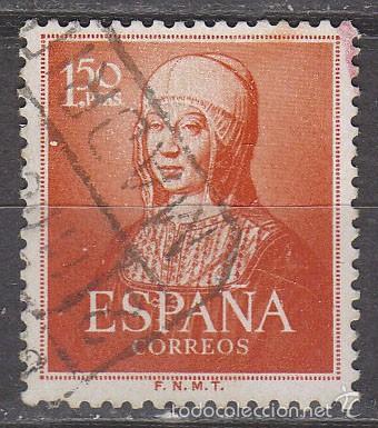 EDIFIL 1095, V CENTENARIO DE ISABEL LA CATOLICA, USADO (Sellos - España - II Centenario De 1.950 a 1.975 - Usados)