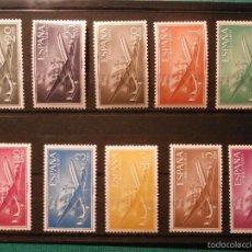 Sellos: SELLO - ESPAÑA - LOTE DE 10 VALORES - EDIFIL 1169 A 1178 - SUPERCONSTELLATION Y NAO -1955-56. Lote 58348982