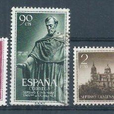 Sellos: R7/ ESPAÑA USADOS 1953, EDF. 1126/28, VII Cº UNI. SALAMANCA. Lote 58424686