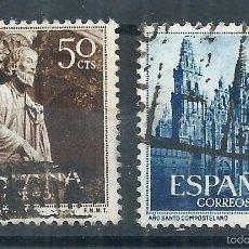 Sellos: R7/ ESPAÑA EN USADO 1954, EDF. 1130/31, AÑO SANTO COMPOSTELANO. Lote 58424806