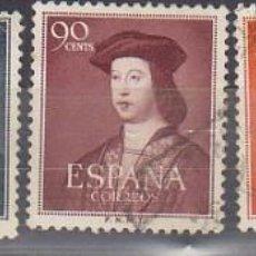 Sellos: O 1106/10 V CENT. NACIMIENTO DE FERNANDO EL CATÓLICA 1952. Lote 58435711