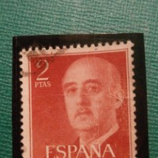 Sellos: SELLO - ESPAÑA - 2 PESETAS - PTS - ROJO - EDIFIL 1157 - 1955 - GENERAL FRANCO -. Lote 58474792