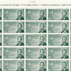 Sellos: XX 1790 (PLIEGO DE 25 V.) VII CONGRESO LATINO Y EUROPEO DE RADIOLOGÍA 1967. Lote 58492832