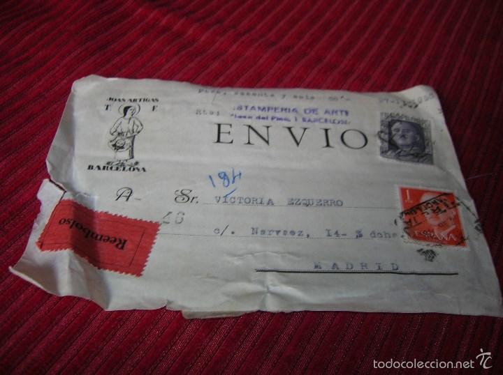 ANTIGUA PARTE DE ARRIBA DE SOBRE CON SELLOS.27 -I V -1956 (Sellos - España - II Centenario De 1.950 a 1.975 - Cartas)