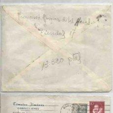 Sellos: SOBRE TIMOTEO JIMÉNEZ CONFECCIONES. MADRID. FRANCO EDI.1072 30CTS FRANCO 10CTS. Lote 59437860