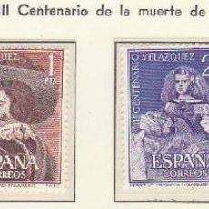 Sellos: XX 1340/2 IIICENT: DE LA MUERTE DE VELÁZQUEZ 1961. Lote 60494987