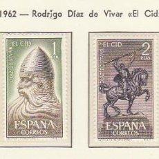 Sellos: XX 1444/7 RODRIGO DIAZ DE VIVAR-EL CID 1962. Lote 60496459