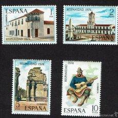 Sellos: HISPANIDAD. ARGENTINA. 1974. EDIFIL 2213-2216. ÓXIDO (73). Lote 60703747