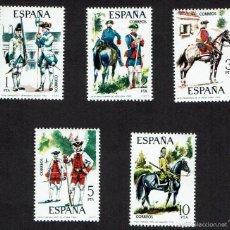 Sellos: UNIFORMES MILITARES. 1975. EDIFIL 2236-2240. ÓXIDO (77). Lote 60819839
