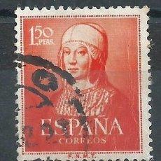 Sellos: R10/ ESPAÑA USADOS, 1951, EDF. 1095, CAT. 12,50€, ISABEL LA CATOLICA. Lote 60928403