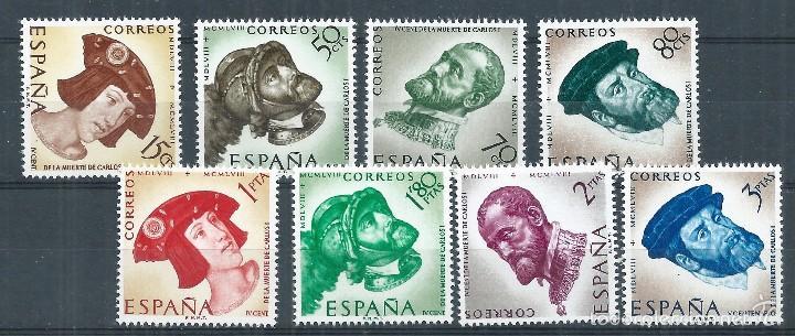 BLOCK01/ ESPAÑA EN NUEVO** 1958, EDF. 1224/31, CAT. 4,25€, IV Cº MUERTE DE CARLOS I Y V DE ALEMANIA (Sellos - España - II Centenario De 1.950 a 1.975 - Nuevos)