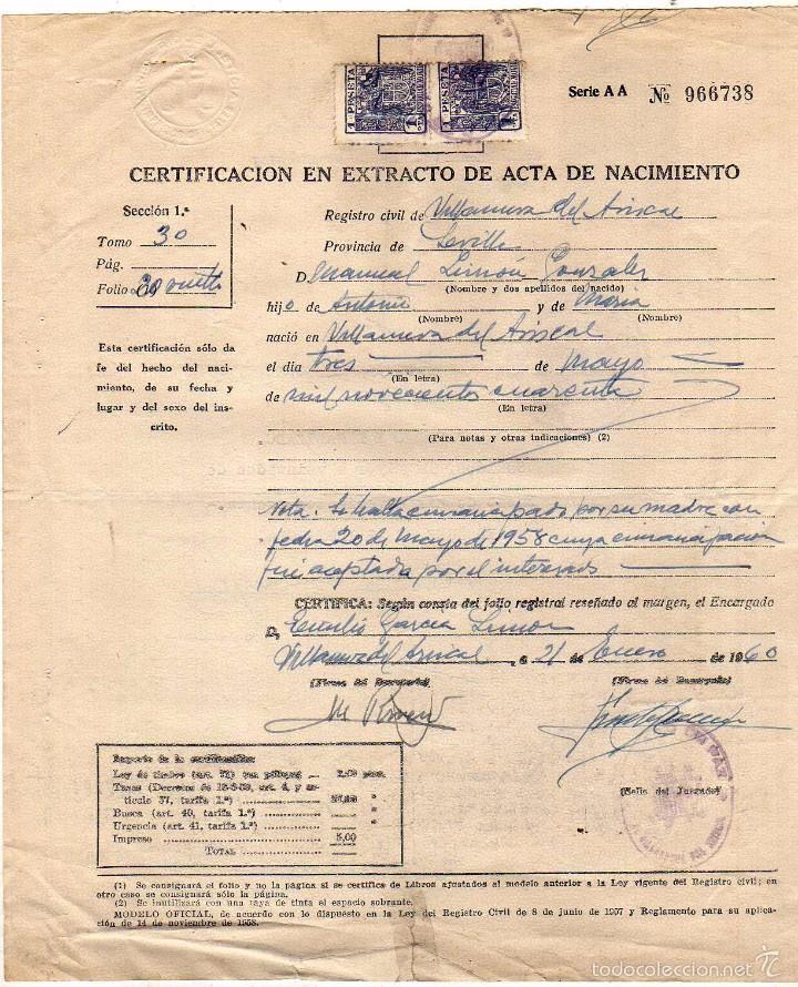 Bonito Certificado De Nacimiento Registro Ornamento - Certificado ...