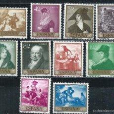 Sellos: EN GOYA / ESPAÑA 1958, EDF. 1210/19, GOYA, NUEVOS**. Lote 111942952