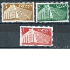 Sellos: .G4/ ESPAÑA EN NUEVO* 1956,CAT. 6,00€, EDF. 1196/98, I Cº DE LA ESTADISTICA ESPAÑOLA. Lote 100141888