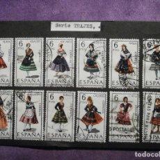 Sellos: SELLO - SERIE TRAJES TÍPICOS ESPAÑOLES - EDIFIL 1767 A 1778 - CON CHARNELA -. Lote 61644564