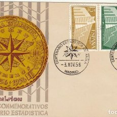 Sellos: PD : 1196/8. I CENT. ESTADISTICA ESPAÑOLA. 1956. . Lote 61797592