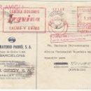 Sellos: FRANQUEO MECÁNICO : BARCELONA A SIDI IFNI-TETUAN 1951 (PUBLICIDAD). Lote 61812364