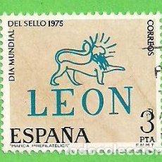 Timbres: EDIFIL 2261. DÍA MUNDIAL DEL SELLO - MARCA PREFILATÉLICA DE LEÓN. (1975).. Lote 62536920