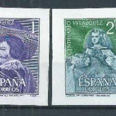 Sellos: R10.G7/ VELAZQUEZ RECORTADOS DE HB, 1961 /*/ CHARNELA, EDF. 1344/47. Lote 62999940