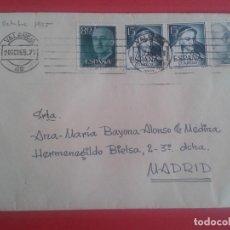Sellos: CARTA CIRCULADA DE VALENCIA A MADRID CON MATASELLOS DE RODILLO VALENCIA. . Lote 64869271