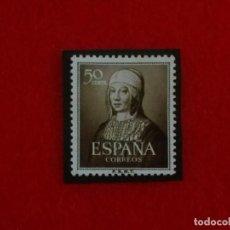 Sellos: EDIFIL 1092 V CENTENARIO ISABEL LA CATÓLICA 1951__MNH**__CON CHARNELA. Lote 65960142