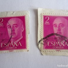 Sellos: 2 SELLOS DE ESPAÑA DE 2 PESETAS CADA UNO. FRANCO. Lote 65991378
