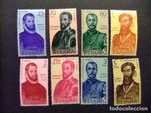 ESPAÑA ESPAGNE 1960 CONQUISTADORES DE AMERICA EDIFIL Nº 1298 / 05 ** MNH YVERT Nº 979 /86 **MNH (Sellos - España - II Centenario De 1.950 a 1.975 - Nuevos)